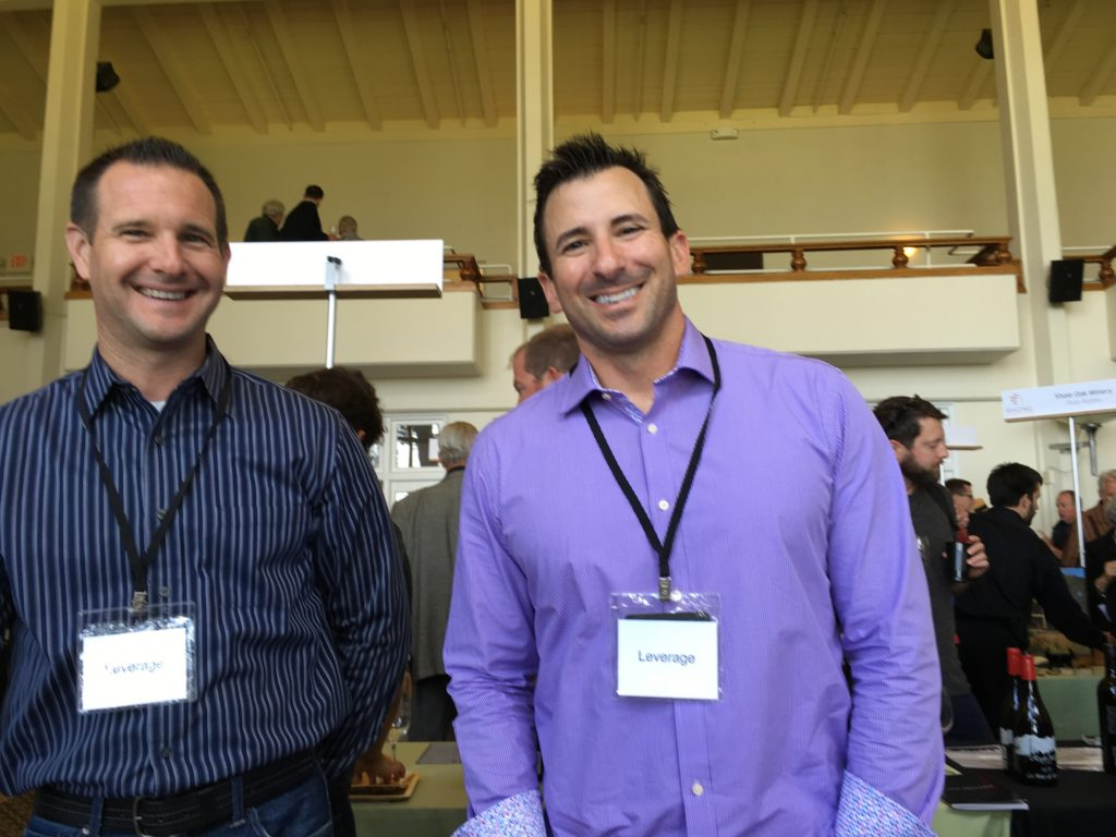 Jason DiFrancisco of Leverage Wines (right)