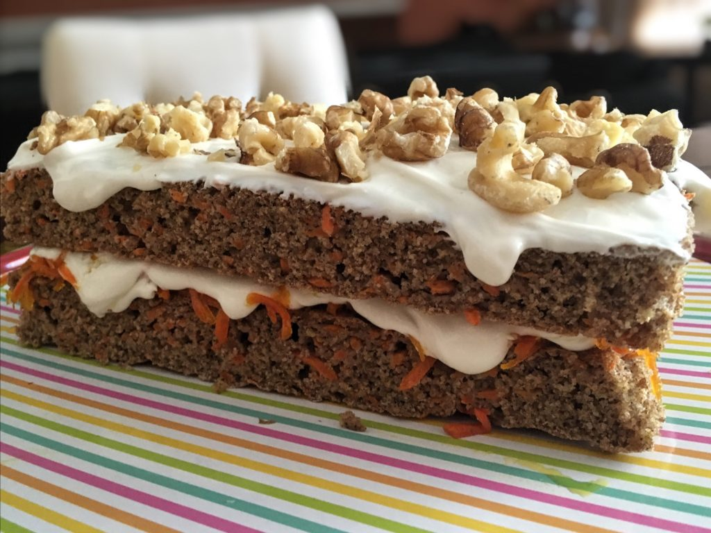 A Note About The Recipe A Few Key Ingredients To Make This Less Guilt Carrot Cake Are Non Fat Cream Cheese Stevia In The Raw Or A Similar Sugar